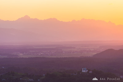 Sunset from Špica hill - Jul 6, 2014