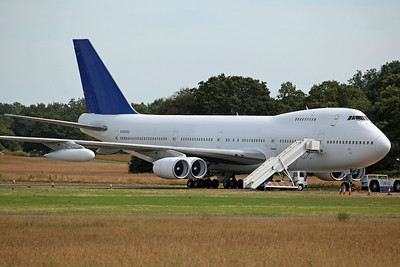 'N88892' B747-200 Aces High. Previously G-BDXJ of Air Atlanta Europe, was modified for the Bond film 'Casino Royale' after arrival here in May 2005.