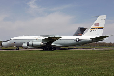 60-0374 EC-135E USAF 452FLTS/412TW 'The Bird of Prey'. The A/RIA (Apollo/Range Instrumentation Aircraft) mission was originally used in support of the the Apollo space program, with eight C-135's converted with a steerable seven foot antenna in the bulbous nose. Becoming operational in January 1968, the AFETR (Air Force Eastern Test Range) at Patrick AFB operated the A/RIA until the end of the Apollo program in 1972, when the USAF renamed it the ARIA (Advanced Range Instrumentation Aircraft). Transferred to the 4950TW at Wright-Patterson AFB in December 1975, the ARIA fleet was later moved to Edwards AFB to be part of the 412TW in 1994. By 2000 all but two of the fleet had been retired, with the 452nd then inactivated and the last EC-135E flown to the NMUSAF on 3rd November.