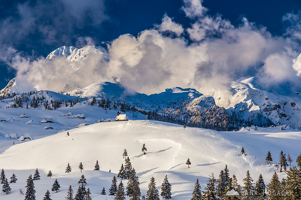 Velika planina in all its winter glory