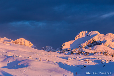 Mts. Brana, Mrzla gora and Planjava behind Velika planina