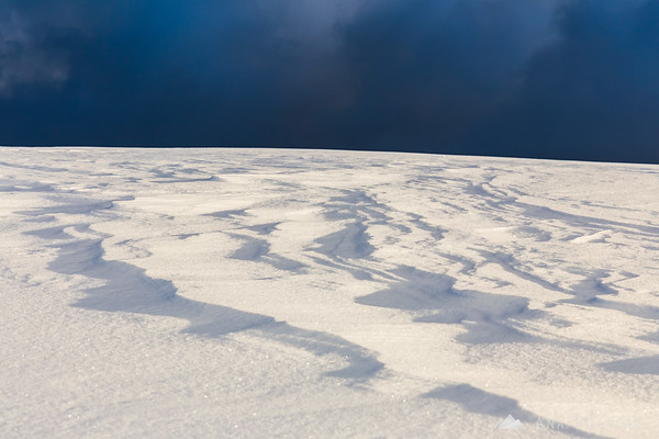 Patterns in snow on Velika planina