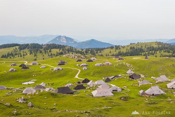 Hiking on Velika planina