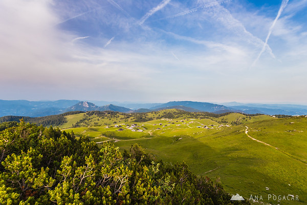 Hiking on Velika planina