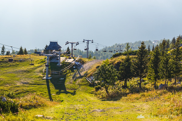 Views from the top chairlift station on Velika planina