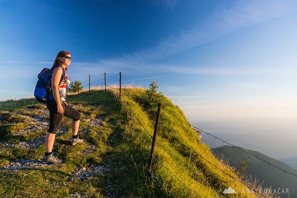 Ana on the edge of Velika planina