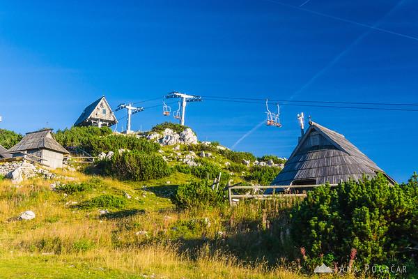 Top chairlift station on Velika planina