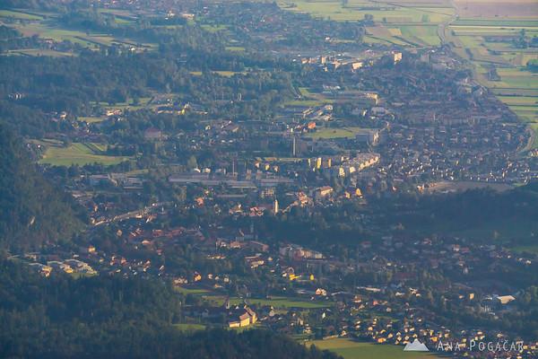 Kamnik from Velika planina