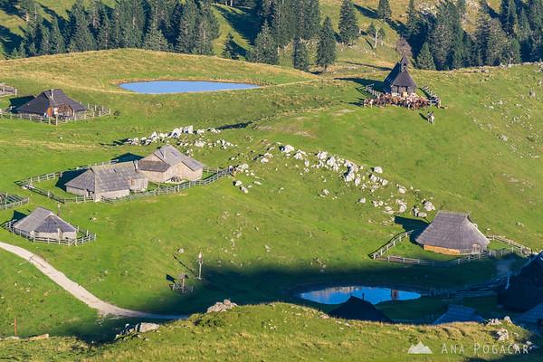 Horse benediction at the Velika planina chapel