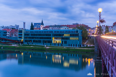 Maribor Faculty of Medicine at the blue hour