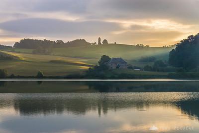 Pernica Lake at sunrise - Sep 11, 2015