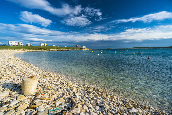 Sunny but windy afternoon in the Stupice campground in Premantura, Croatia; a windsurfers' paradise :)
