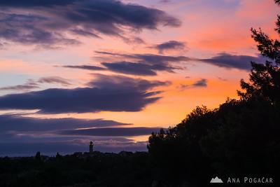 Sunset colors above Premantura, Croatia