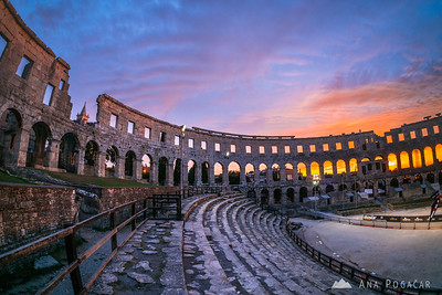 Pula at dusk - Sep 19, 2015