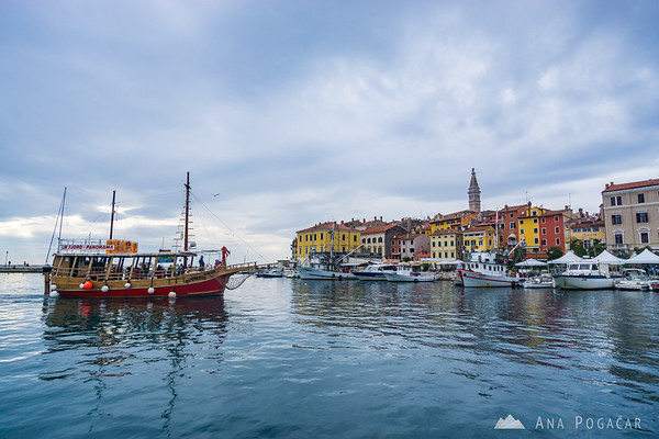 Rovinj on a cloudy afternoon