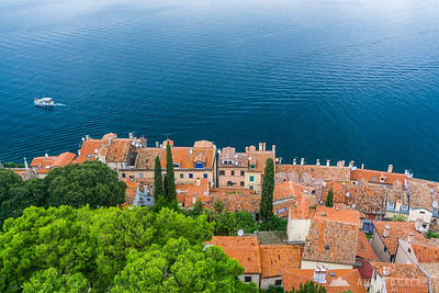 Views from the church bell tower in Rovinj