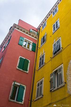 Colorful houses of Rovinj