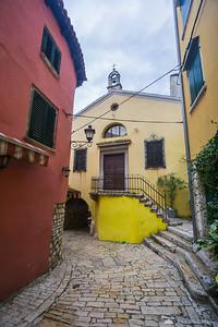 Narrow streets of Rovinj