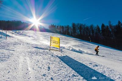 Skiing in Kranjska Gora - Feb 20, 2015