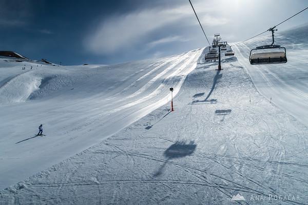 Skiing in Livigno, Italy