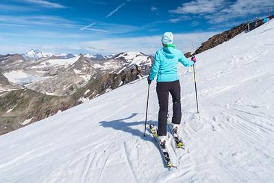 Summer skiing on the Mölltal glacier - Aug 1, 2015