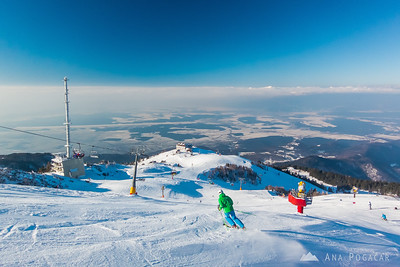 Skiing on Krvavec - Feb 17, 2015