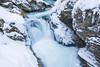 Vintgar Gorge near Bled on a snowy winter day