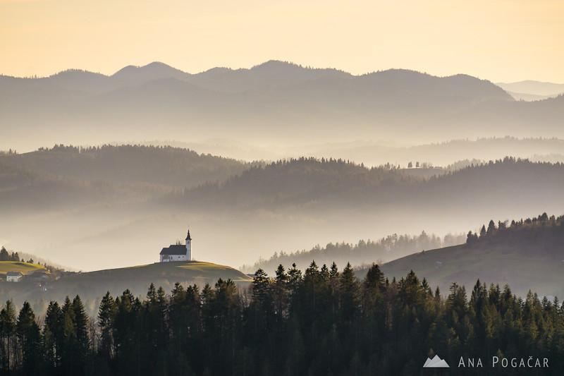 Views from Črni vrh - looking towards St. Andrej church