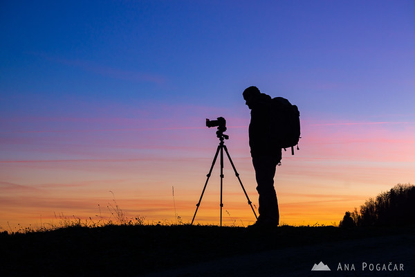 Shooting the sunset from Črni vrh