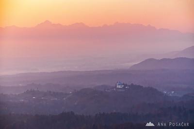 Sunset from Špica - Nov 5, 2015