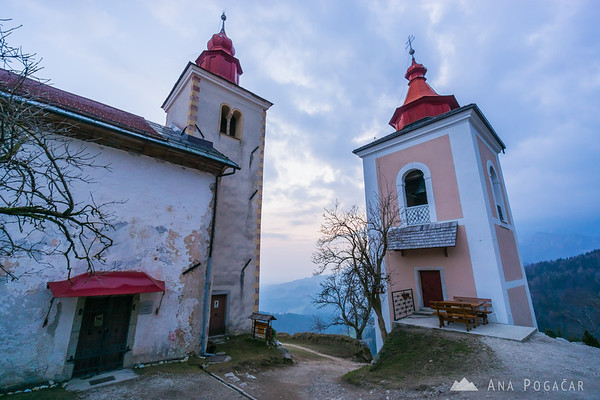 St. Primus church after sunset