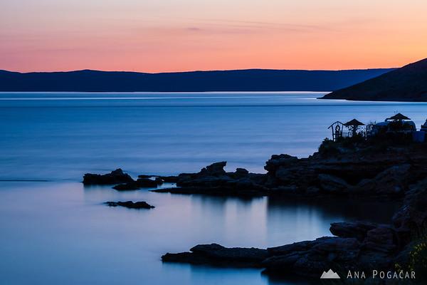 Sunset in Stara Baška, Island Krk
