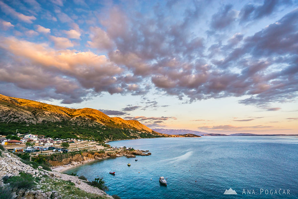 Dramatic clouds at sunset in Stara Baška, Island Krk