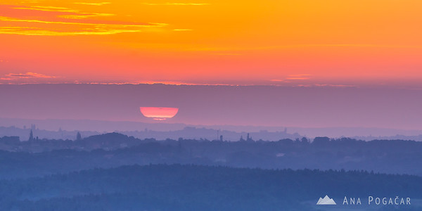 Sunrise from the view tower in Zavrh