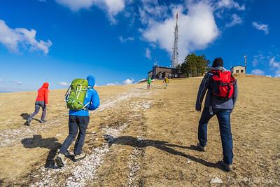 Windy ascent to Mt. Slavnik - Mar 7, 2015