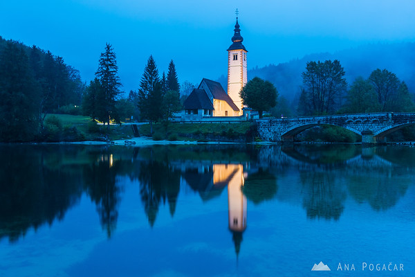 Lake Bohinj is magical on rainy days, too