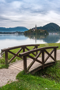 Lake Bled on a cloudy morning
