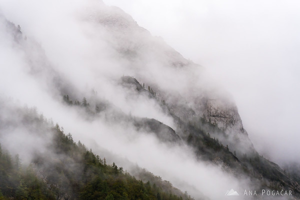 Vrata Valley on a moody, cloudy fall afternoon