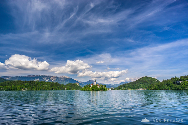 Lake Bled on a sunny afternoon