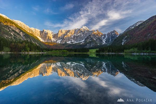 Perfect reflection at Mangart Lakes