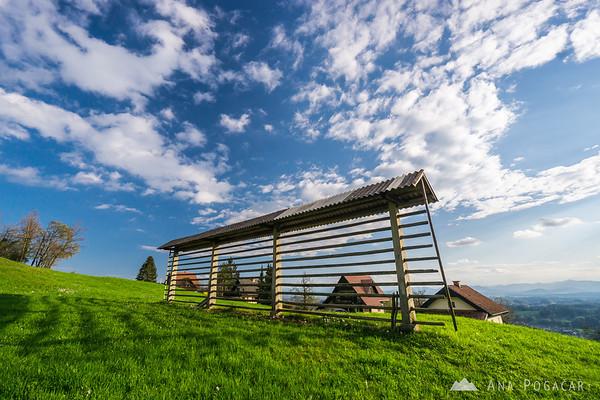 A hayrack in Brezje