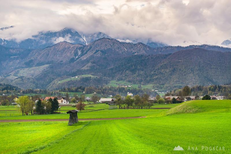 Kamniški vrh from Mekinje
