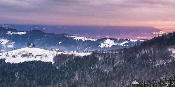 Sv. Tomaž at sunrise