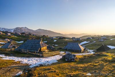 Sunrise on Velika planina