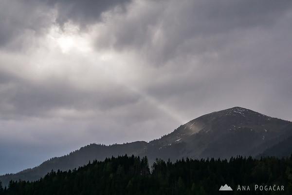 Views towards Mt. Golica from Planina pod Golico