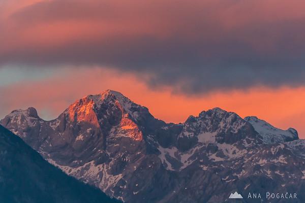 Mt. Skuta glowing in last sun rays