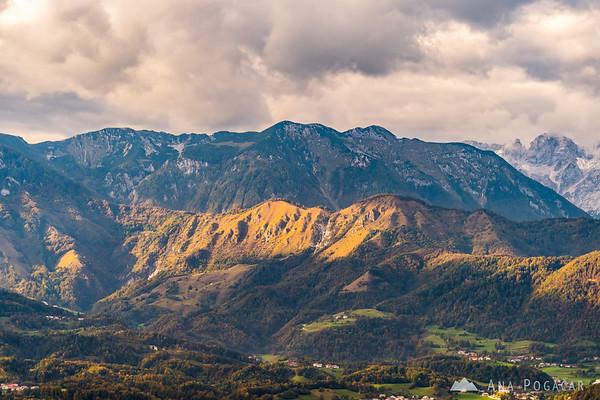 Kamniški vrh from Špica hill above Kamnik