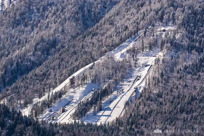 Ski jump hill in Planica