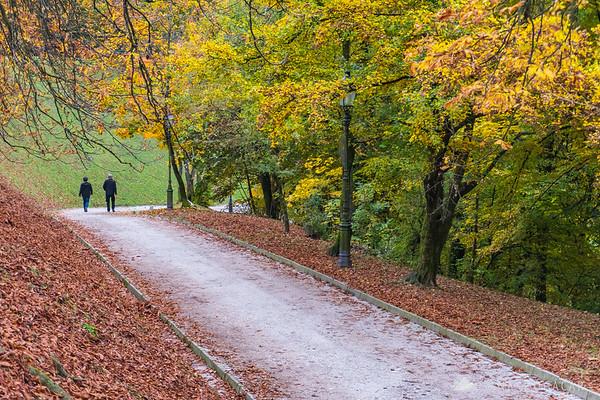 Fall colors on the Ljubljana Castle
