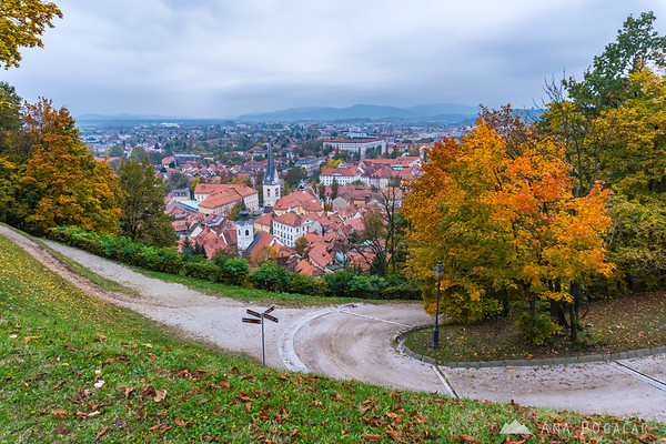 Fall colors on the Ljubljana Castle hill
